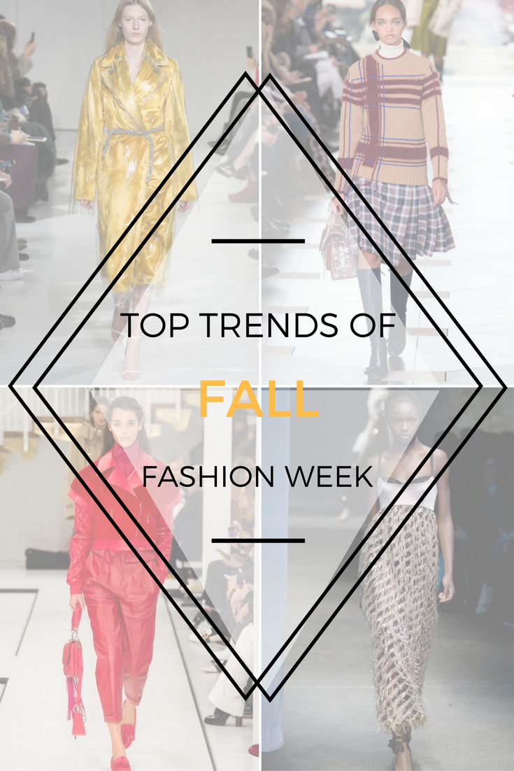Top Trends of Fall Fashion Week 2017