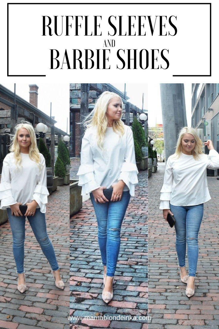 Ruffle Sleeves + Barbie Shoes – Cool Street Style Look